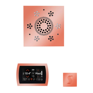 The Wellness Steam Package with SignaTouch by ThermaSol square copper trim upgraded