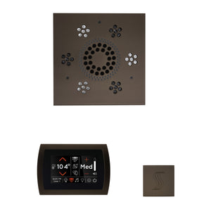 The Wellness Steam Package with SignaTouch by ThermaSol square oil rubbed bronze trim upgraded
