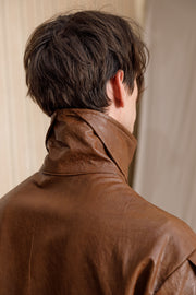 Mana faux-leather coat