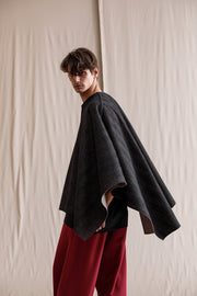 Madre poncho double-faced