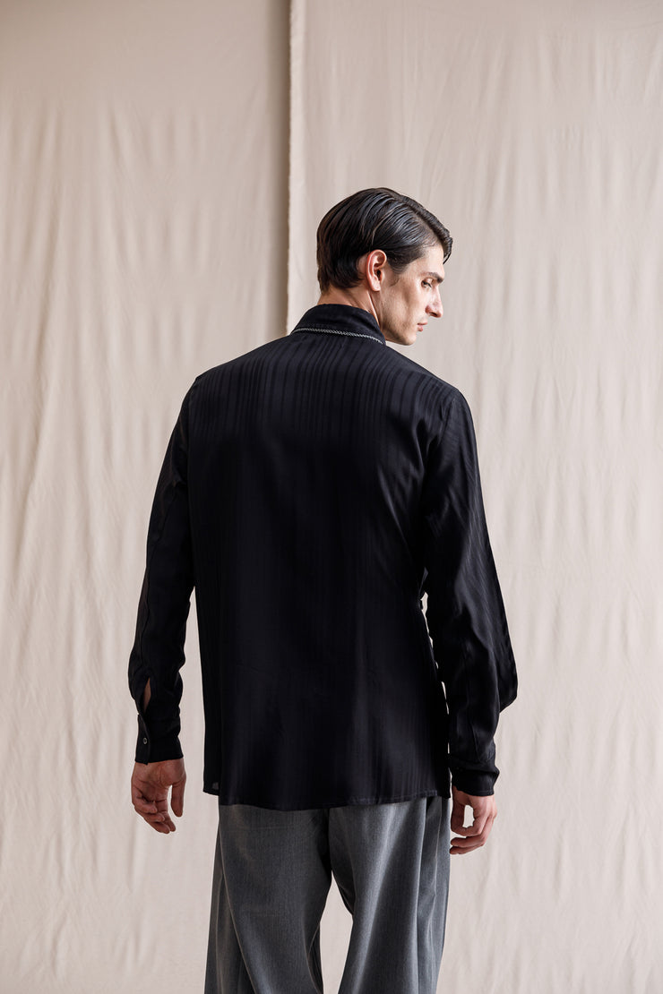 Ibu layer shirt black