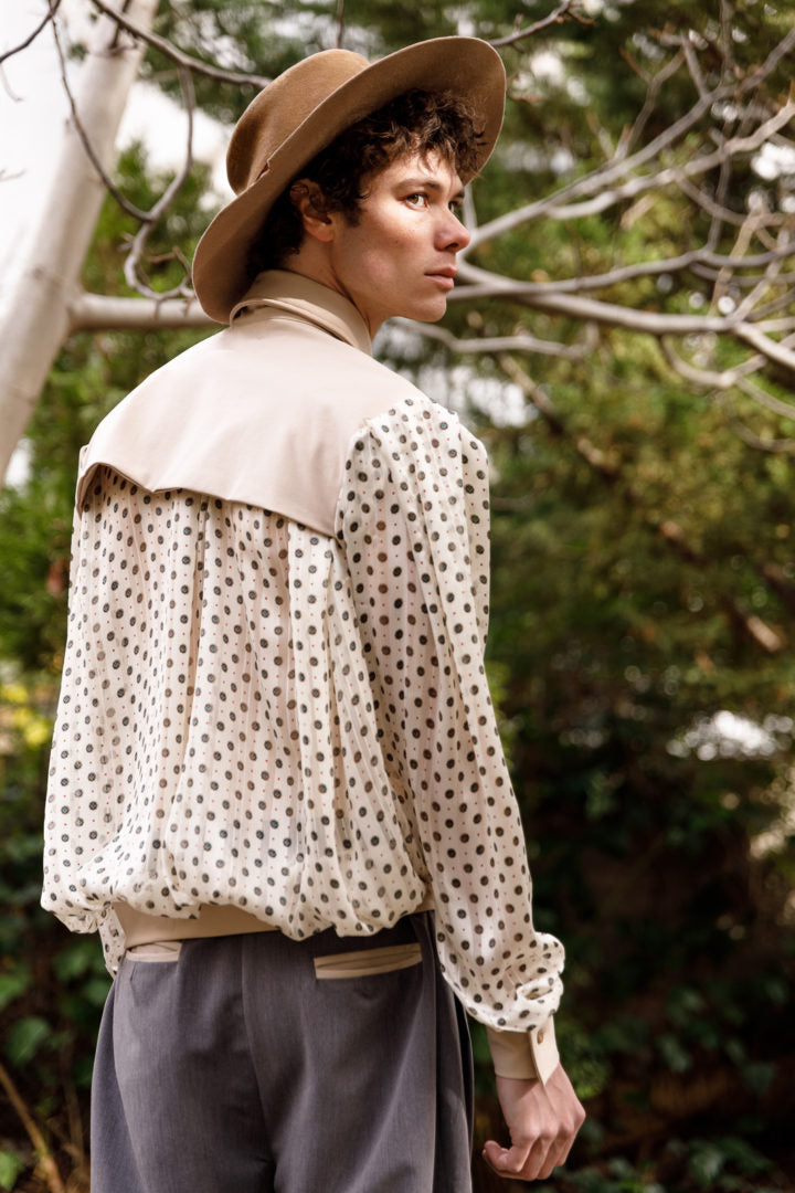 Minora double-layered shirt beige