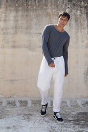 Longus pants white