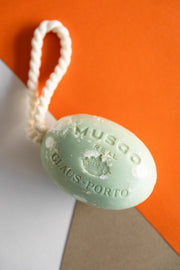 Musgo soap on a rope