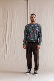 Ina sweatshirt printed green