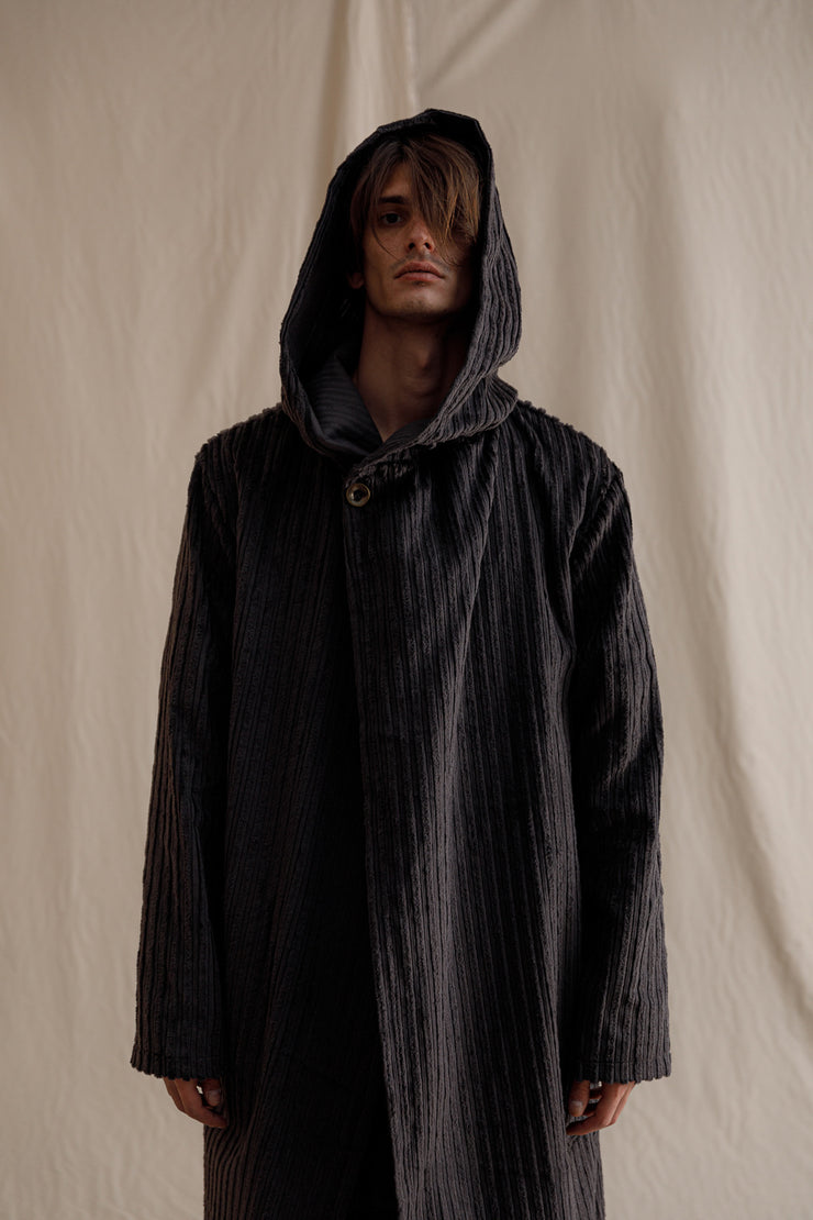 Acolyte oversized parka grey