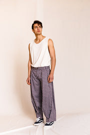 Mae pants printed blue