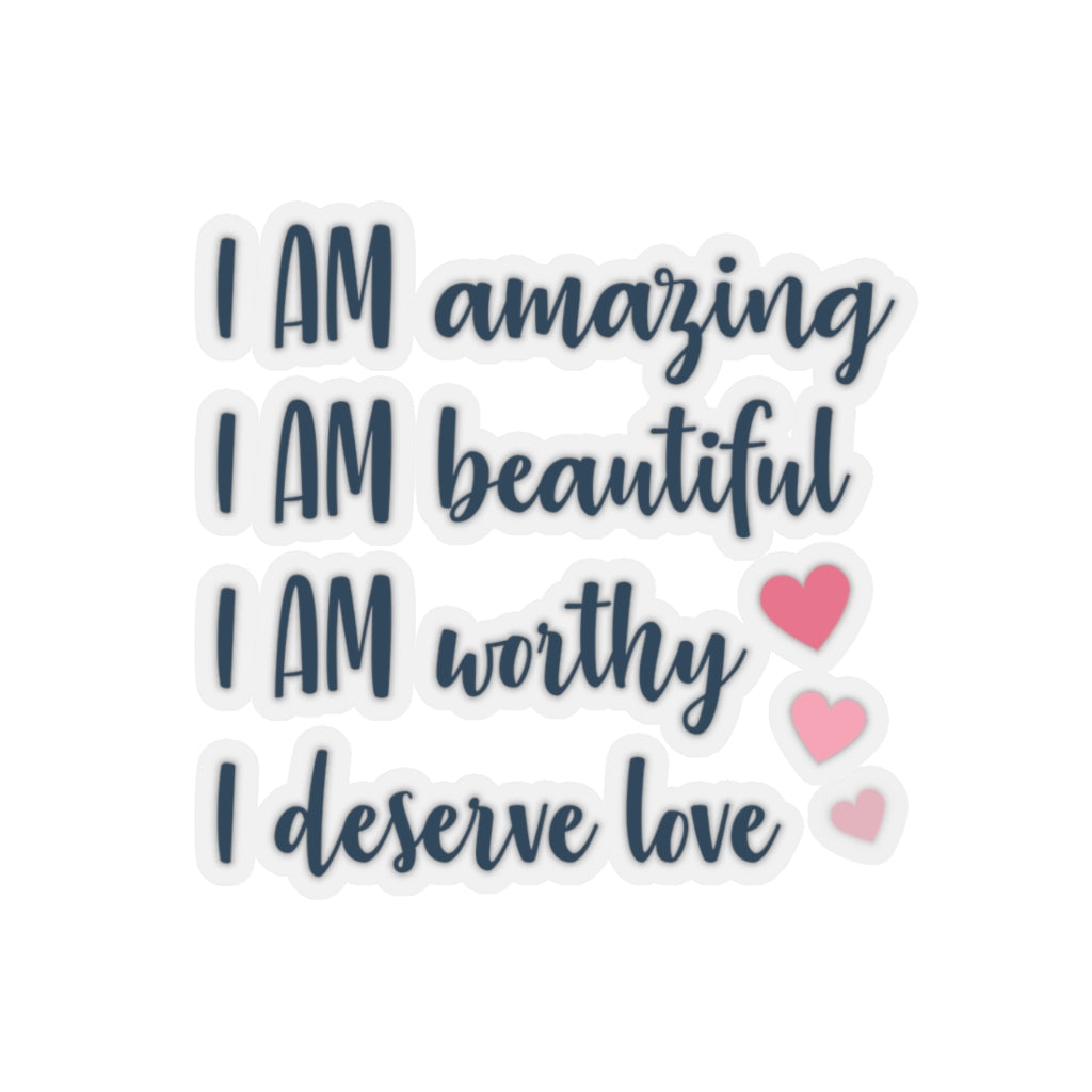 Positive Affirmation Kiss-Cut Stickers