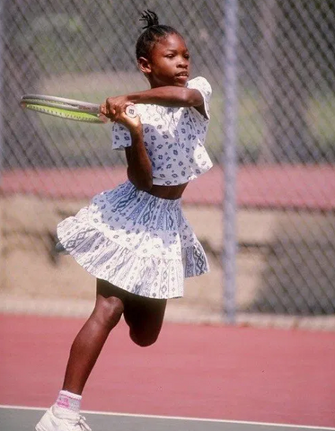 serena williams as a child