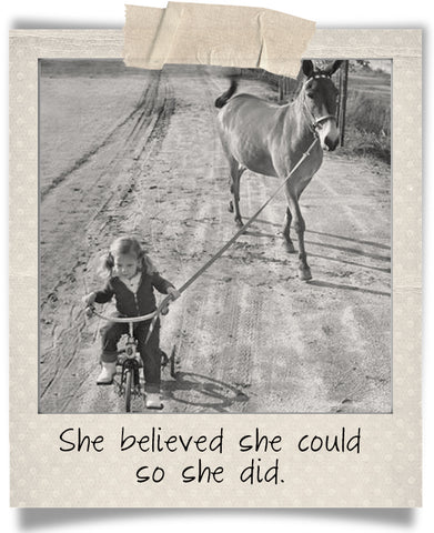 strong girls quote vintage photo