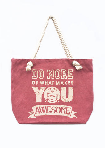 Do More Awesome Beach Tote