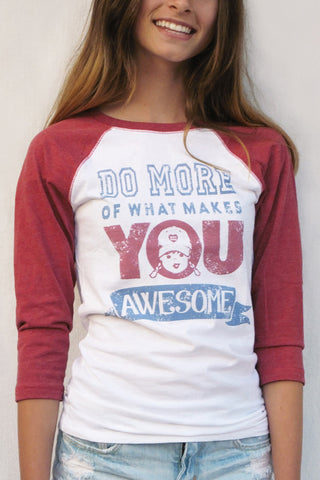 Do More Awesome Baseball Tee