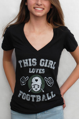 This Girl Loves Football Graphic Tee