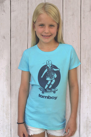 Girls Retro T Shirt Tomboy Skater Girl Shirt