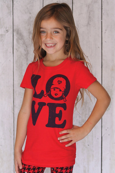 girls t shirt love t shirt tomboy vintage t shirt