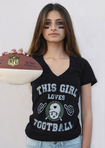 womens graphic tees love football t shirt for women
