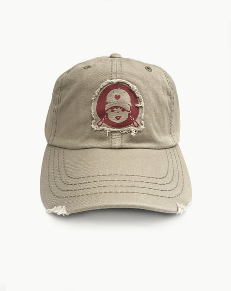 womens baseball cap distressed baseball hat khaki