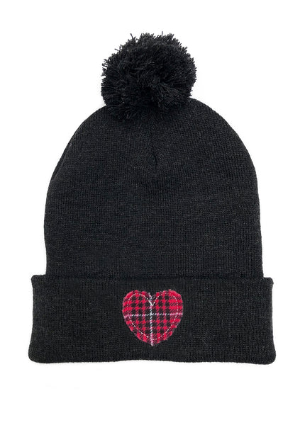 womens winter hat dark gray beanie