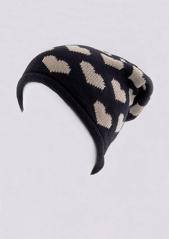women's winter hat black