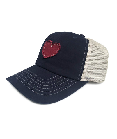 womens trucker hat heart baseball cap