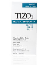 TIZO3 FACIAL PRIMER SUNSCREEN tinted matte finish SPF 40