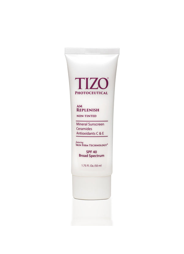 TIZO® AM REPLENISH non-tinted silky smooth finish spf 40