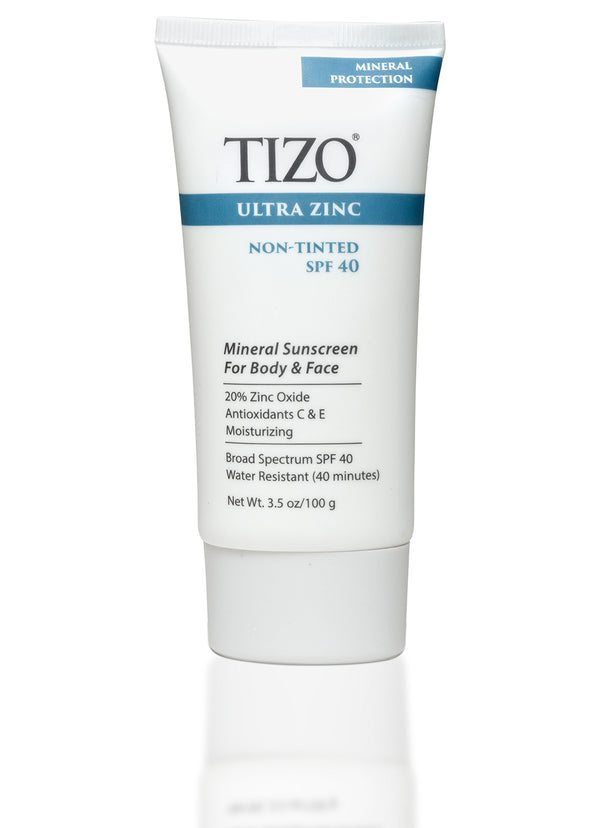 ULTRA ZINC BODY & FACE SUNSCREEN non-tinted dewy finish SPF 40