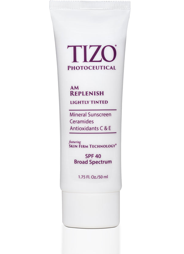 TIZO® AM REPLENISH lightly tinted silky smooth finish spf 40