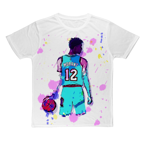 Ja Morant abstract  Adult T-Shirt