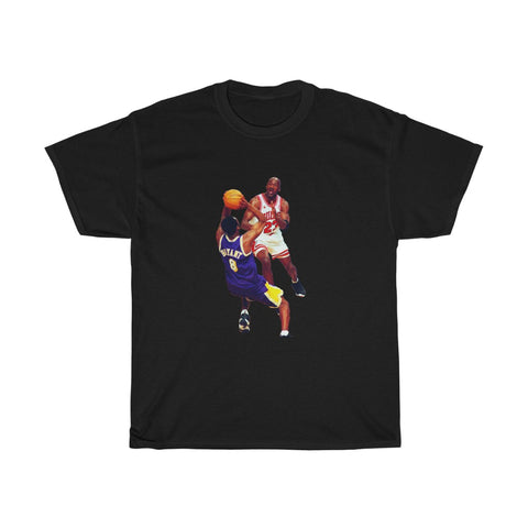 Kobe vs Mj Greatest Ever Goats of the game Unisex Heavy Cotton Tee