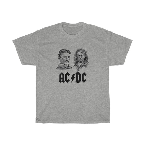 Tesla vs Edison AC/DC Unisex Heavy Cotton Tee