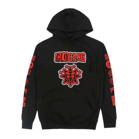 600 Gloyalty Glogang Glory Boyz Red Pull Over Hoodie