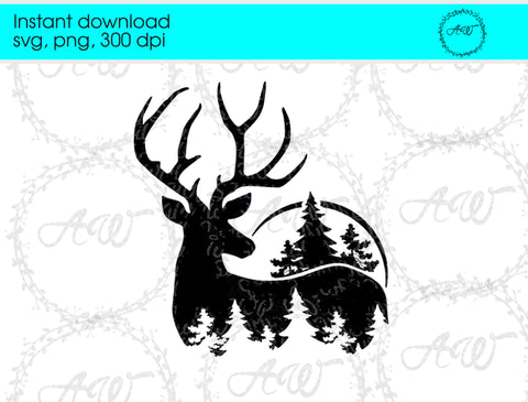 Deer Svg, Deer Head Svg Instant Download