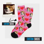 Custom Pet Dog Socks, Personalized Pet Photo Socks, Put Your Cute Dog's Face On Socks, Dog Lover Gift, Dog Face Socks