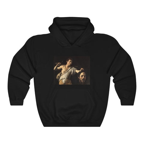David Contre Goliath Pray For Paris Caravaggio Griselda Unisex Heavy Hooded Sweatshirt
