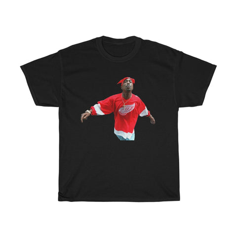 2 pac Thug Life Tupac Red Wings Adult Unisex T Shirt