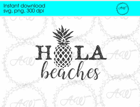 Hola Beaches Instant Download