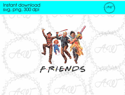 Halloween Monster Friends Instant Download