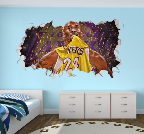 Kobe Bryant Lakers Wall Decal Basketball Wall Decal