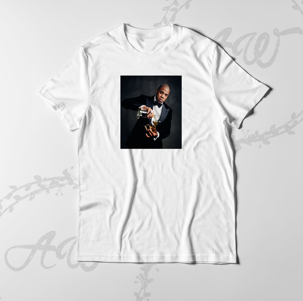f5c2beabd Jay Z Grammy Winner Hip Hop Champagne Graphic tee T Shirt – ABSTRACTO WORLD