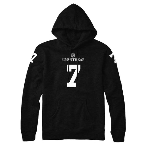 Colin Kaepernick Black Out Jersey Style NFL Tee Adult Unisex Pullover Hoodie
