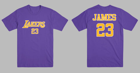 7a58889a5 LeBron James Los Angeles LA Lakers 23 Jersey Style Men s Graphic T Shirt