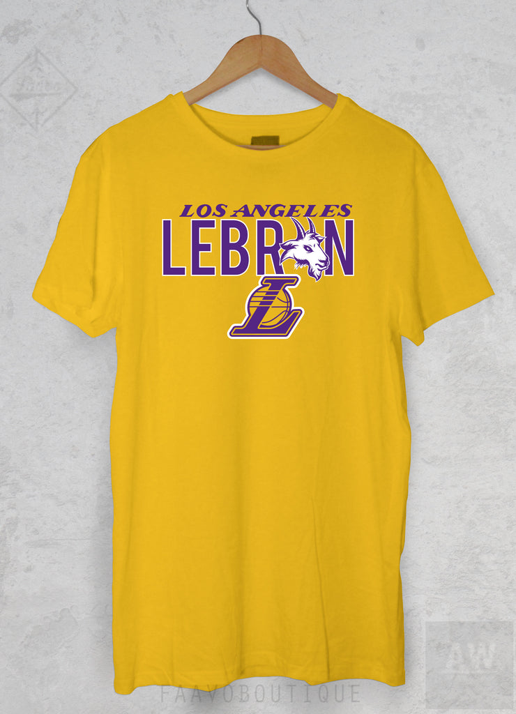 a3ec9c6a0262 LeBron James Los Angeles LA Lakers 23 Goat Unisex Graphic T Shirt ...