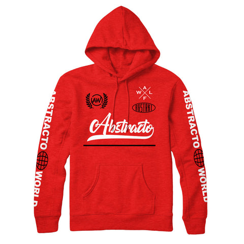 Abstracto World OG Classic Hoodie Red