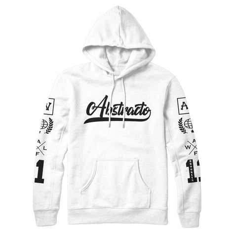 Abstracto World OG Classic Hoodie White