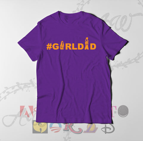 Girl Dad Girldad Kobe and Gigi Father and Daughter Adult Unisex T Shirt