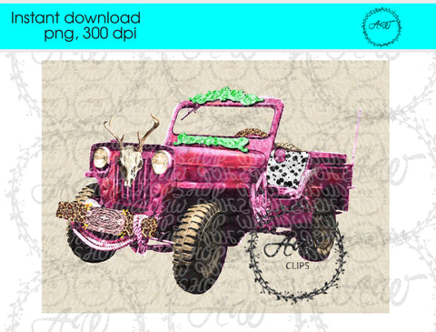 Jeep Floral Design Instant Download