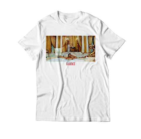 Scarface Bathtub Scene Movie T Shirt