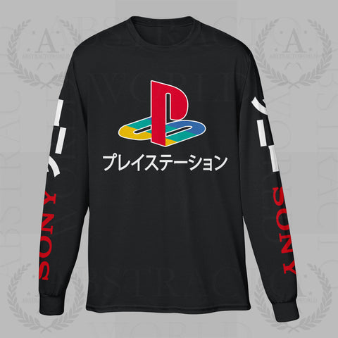 Sony Playstation Gamer PS Long Sleeve Adult Unisex T Shirt