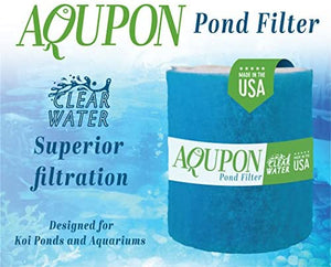 AQUPON Koi Pond Filter Media Pad - Cut to Fit Roll (Dye-Free/Blue Bonded) - 1.25 Inch Thickness (10 ft, Blue)